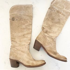 Frye | Women's Jane Tall Cuff Boot in Taupe Sz. 9